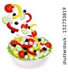 greek vegetable salad  pepper ...   Shutterstock .eps vector #152753819