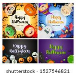 happy halloween orange  black... | Shutterstock .eps vector #1527546821