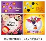 halloween sale pink  orange... | Shutterstock .eps vector #1527546941