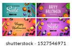 halloween sale pink  violet... | Shutterstock .eps vector #1527546971