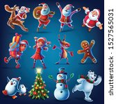 characters for christmas... | Shutterstock .eps vector #1527565031