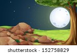 illustration of a rocky forest... | Shutterstock .eps vector #152758829