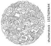 cartoon cute doodles hand drawn ... | Shutterstock . vector #1527609644
