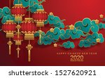 chinese new year 2020 year of... | Shutterstock .eps vector #1527620921