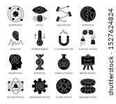 physics branches glyph icons... | Shutterstock .eps vector #1527624824
