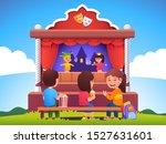 children audience sitting on... | Shutterstock .eps vector #1527631601