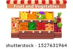 fruit   vegetables supermarket... | Shutterstock .eps vector #1527631964