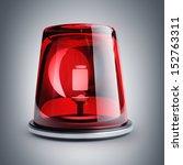 red siren. high resolution 3d... | Shutterstock . vector #152763311