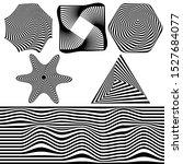 set of abstract optical art...   Shutterstock .eps vector #1527684077