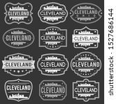 cleveland ohio skyline. premium ... | Shutterstock .eps vector #1527686144