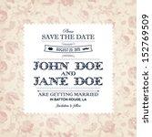 wedding invitation | Shutterstock .eps vector #152769509