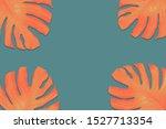 monstera leaves coloer gray... | Shutterstock . vector #1527713354