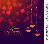 happy diwali festival holiday... | Shutterstock .eps vector #1527719297