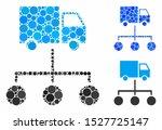 truck distribution links...   Shutterstock .eps vector #1527725147