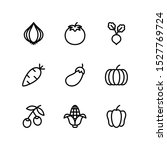 vegetables line icons set ... | Shutterstock .eps vector #1527769724