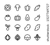 vegetables line icons set ... | Shutterstock .eps vector #1527769727