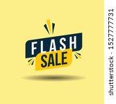 flash sale banner. template... | Shutterstock .eps vector #1527777731