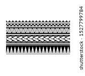 artistic polynesian tribal... | Shutterstock .eps vector #1527799784