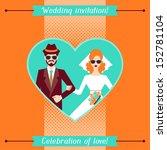 wedding invitation card...   Shutterstock .eps vector #152781104