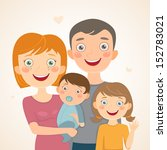 happy family | Shutterstock .eps vector #152783021