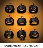 set of halloween pumpkins jack... | Shutterstock .eps vector #152783921