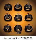 set of halloween pumpkins jack... | Shutterstock .eps vector #152783921