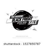 black friday sale banner layout ...   Shutterstock .eps vector #1527850787
