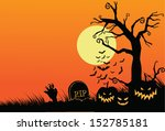 halloween greeting card... | Shutterstock . vector #152785181