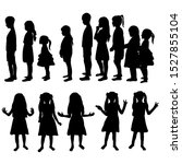 vector  isolated  silhouette... | Shutterstock .eps vector #1527855104