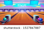 bowling alleys with balls  pins ... | Shutterstock .eps vector #1527867887