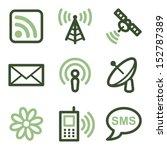 communication icons  green line ... | Shutterstock .eps vector #152787389