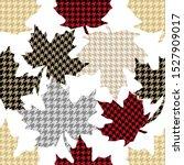 falling maple leaves. seamless... | Shutterstock .eps vector #1527909017