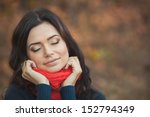 portrait of young woman with... | Shutterstock . vector #152794349