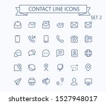 contact line mini icons set 2....