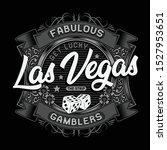 poker game las vegas typography.... | Shutterstock .eps vector #1527953651