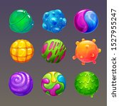 Cartoon Colorful Slimy Balls....