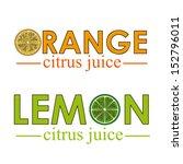 citrus fruit over white... | Shutterstock .eps vector #152796011