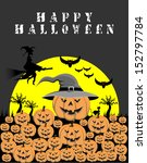 happy halloween  vector | Shutterstock .eps vector #152797784