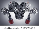 v8 car engine. concept of... | Shutterstock . vector #152798657