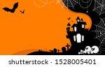 halloween haunted house  bats...   Shutterstock .eps vector #1528005401