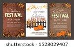 set autumn festival flyers ... | Shutterstock .eps vector #1528029407