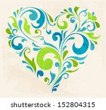 Abstract Floral Heart