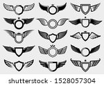 wings set. collection icon... | Shutterstock .eps vector #1528057304