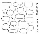Set Of Hand Drawn Speech...