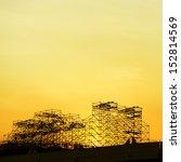 scaffolding as safety equipment ... | Shutterstock . vector #152814569