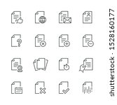document related icons  thin... | Shutterstock .eps vector #1528160177