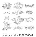 gentle flowers compositions... | Shutterstock .eps vector #1528208564