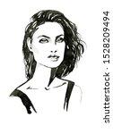 fashion illustration. fashion...   Shutterstock . vector #1528209494
