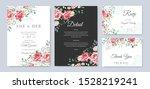 beautiful wedding invitation... | Shutterstock .eps vector #1528219241