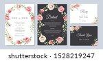 beautiful wedding invitation... | Shutterstock .eps vector #1528219247